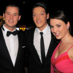 Mesut Özil with Nicolas and Alicia Lindner