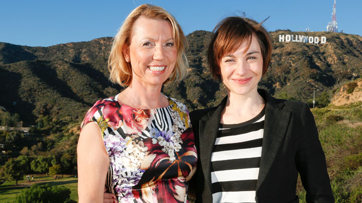 Christiane Paul et Daniela Lindner devant les collines d'Hollywood