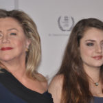 Supporter for Human Rights: Kathleen Turner with daughter