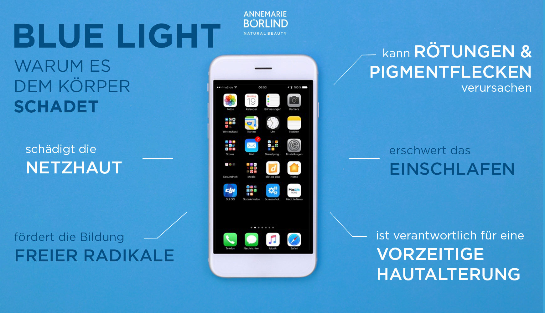 Infografik blue light