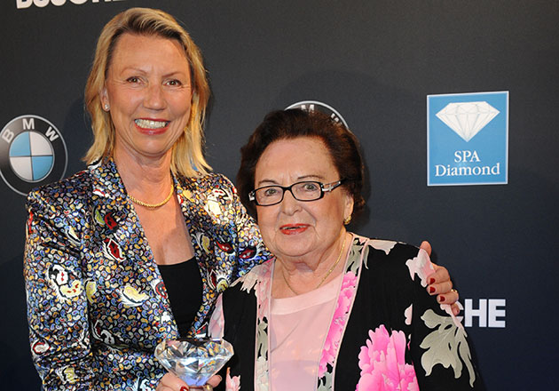 ANNEMARIE BÖRLIND - Annemarie Lindner mit ihrer Schwiegertochter Daniela Lindner bei den SPA Diamond Awards