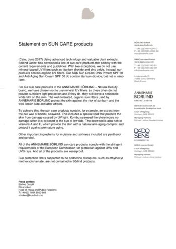 thumbnail of Statement_AB_Sun Care Products_200519