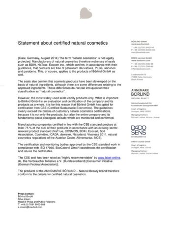 thumbnail of Statement_Certified Natural Cosmetics_200519