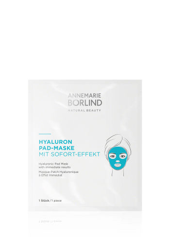 ANNEMARIE BÖRLIND HYALURONIC PAD MASK with immediate results